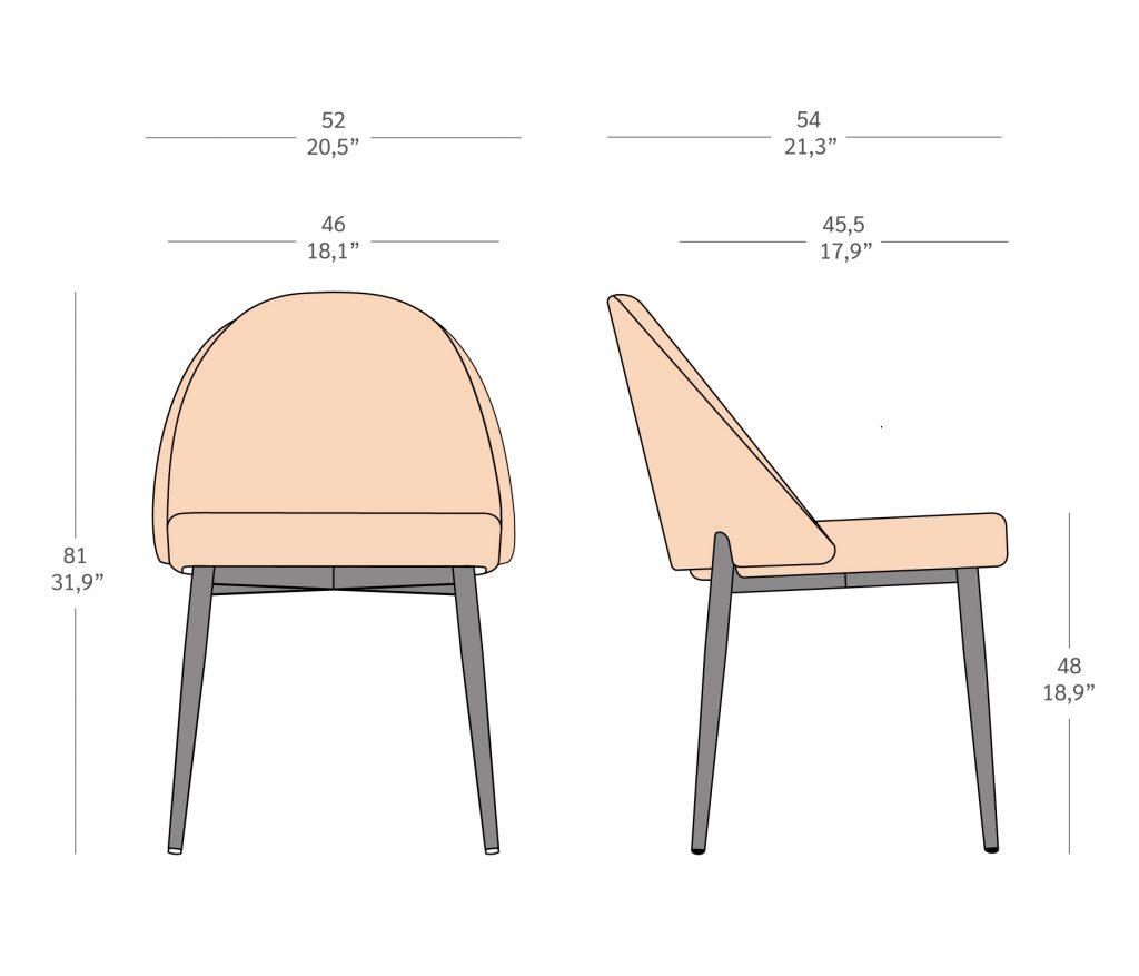 LY002 , cadeira sem braços em metal