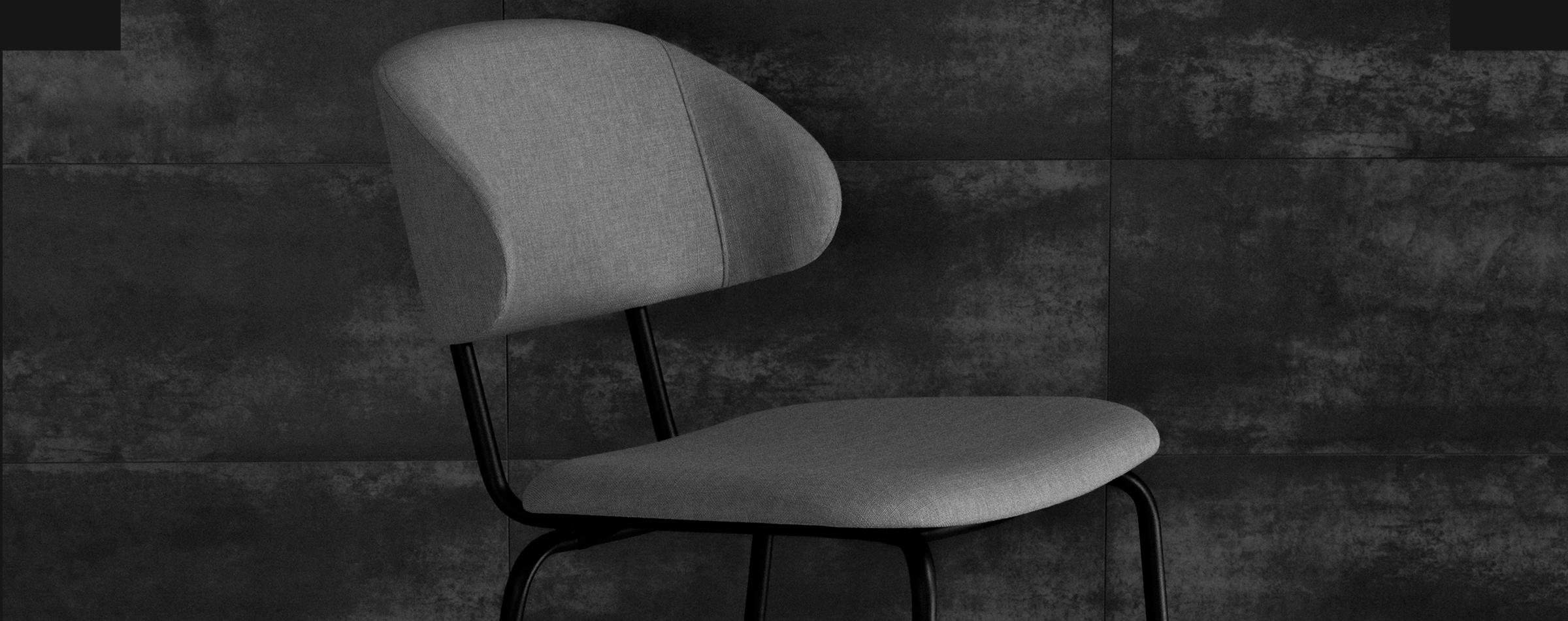 KIRA Collection - Cadeira estofada em metal
